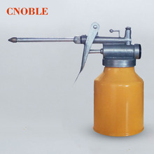 250ml Aluminum Alloy High Pressure Feed Oil Gun Pump Oiler kettle Machine Oiler Grease flex Spray Gun
