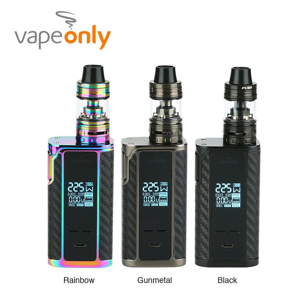 New 225W Vapeonly Captain PD1865 TC Kit W/ 3.6ml Captain Mini Tank & 0.96 inch Screen E-cig Vaporizer Vape Kit Vs Drag 2 / LuxeNew 225W Vapeonly Captain PD1865 TC Kit W/ 3.6ml Captain Mini Tank & 0.96 inch Screen E-cig Vaporizer Vape Kit Vs Drag 2 / Luxe
