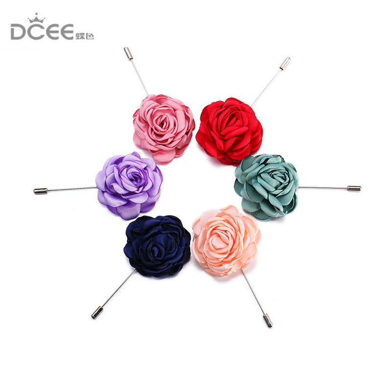 Safety Scarf Pin with rose flower New Hijab Pins 6pcs/lot muslim hijab pins women brooches drop shipping fabric pins