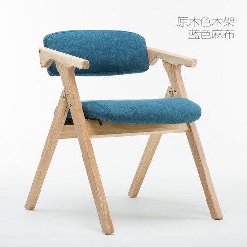Chaise de salle à manger en bois nordique dinant la chaise moderne minimaliste en tissu pliant la chaise d'accoudoir dossier d'ordinateur chaise salon de maison Sofa