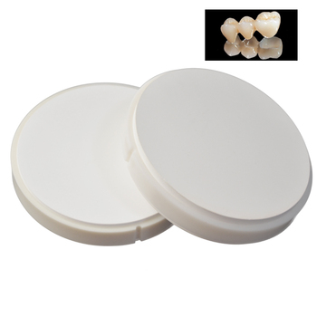 1 Piece OD98mm Dental CAD/CAM Wieland Zirconia Blocks Dental Ceramic Puck with Plastic Ring Outside for Fixed Porcelain Teeth