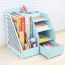 Stay Gold Wooden Storage Box Multifunctional Bookshelf Makeup Organizer Make Up Basket Car
