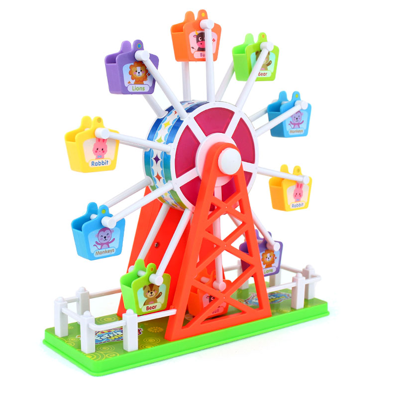 Baby Electronic Ferris Wheel Music Toys For Kids Electric Voice Control Rotating Sound Toy For Children Funny Educational Toys