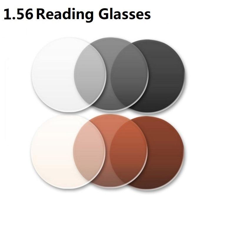 2bbe3d06e 1.56 شبه كروي العدسات العلامة التجارية اللونية نظارات للقراءة النظارات  الشمسية رمادي براون البصرية نظارات اكسسوارات العدسات للعيون اللون
