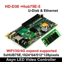 Huidu HD D30 Asynchronous Full color LED Video Display Control Card Support 512*128 pixels,Smart Setting work with P2 P3 P4 P5