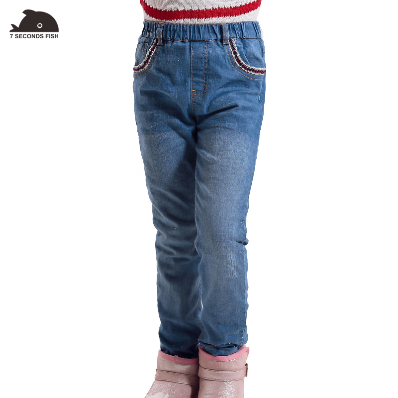 girl winter jeans High quality Thick Children girls Jeans Kids Trousers Girls Baby Children Pants for 4-14 years 2017 winter children s pants girls jeans solid middle thick denim baby girls jeans for big kids girls causal jeans long trousers