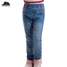 Фотография girl winter jeans High quality Thick Children girls Jeans Kids Trousers Girls Baby Children Pants for 4-14 years