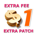 Taxa Extra, Apenas Para A Diferença de 1 peça = $1