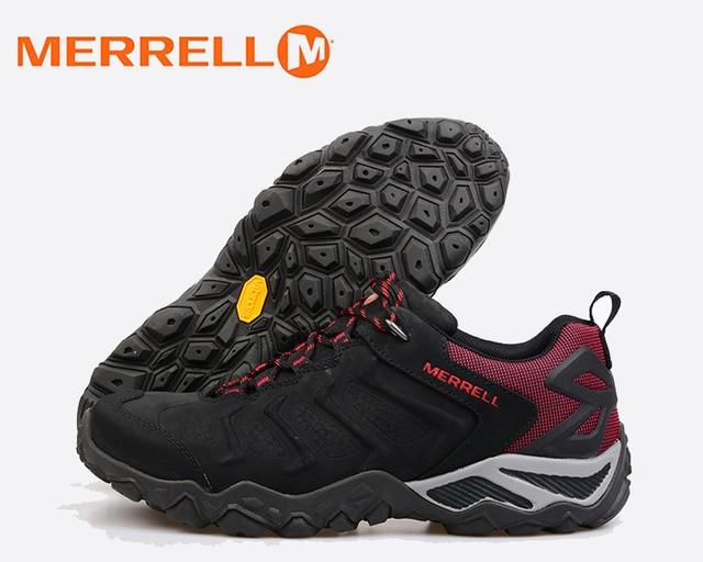 Merrell Hiking Sepatu Outdoor Profesional Stabilitas Anti-Slip Sepatu  Berjalan Pria Climbing Trekking Sepatu Olahraga 6a8d2bd173