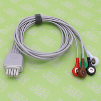 ECG AHA SNAP leadwire cable for Mindray Datascope passport V, V12, V21 5 lead ECG Trunk Cable