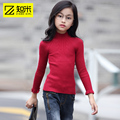Half Of Turtleneck Girls sSweater Kids Clothes Spring New Style Solid color Horn Sleeve Sweater Knitte Girls Clothing 9999