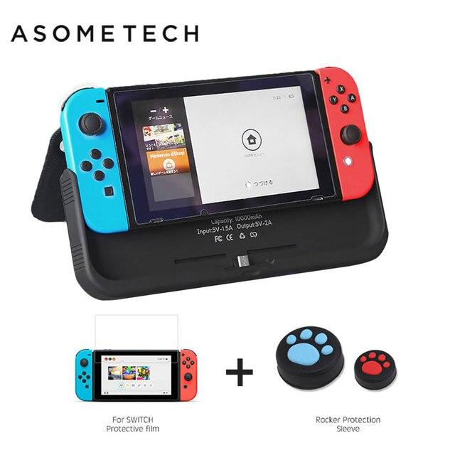 10000mAh pil şarj cihazı tüm telefon için Nintendo Nintendo anahtarı NS tutucu standı kapak Nintendo anahtarı taşınabilir güç kaynağı kılıfı