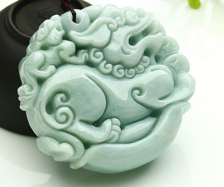 Grade A Natural Light Green Jadeite Pendants, PI XIU yu Unisex With Certificate necklace pendant,Free shipping. спортивный костюм xiu xiu meng gu 2015
