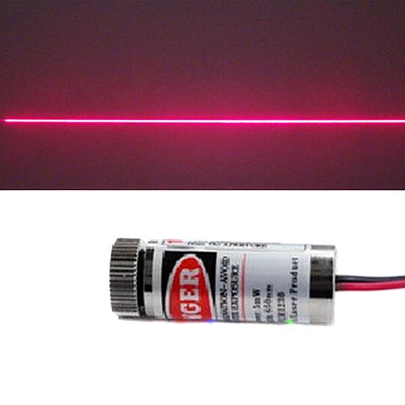 1 PC Red Line Laser Module 5mW 650nm Focus Adjustable Laser Head 5V Industrial Grade P20