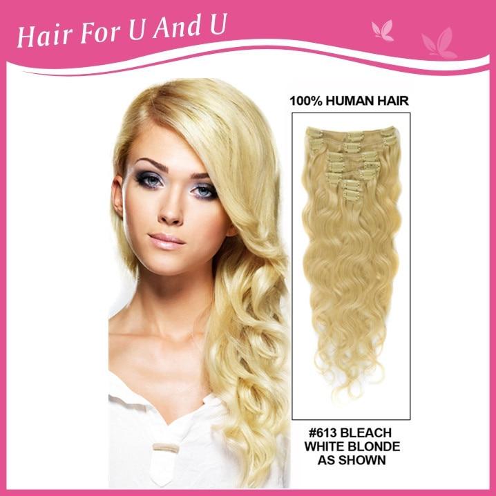 613 Blonde Soft Cheap Virgin Remy Body Wave Easy Clip Hair
