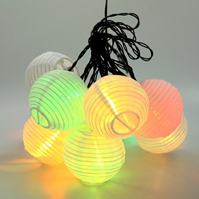 10 UNIDS Multi Color Mini Nylon Patio de Luces LED String Batería Recargable, Solar para uso En Interiores y Exteriores de Decoración iluminación