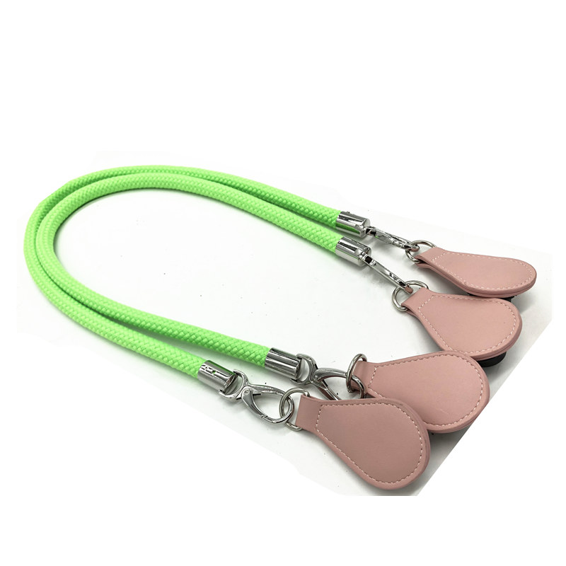 FOR obag handle 90 cm 70 cm pink rope and green rope with tears end цена и фото
