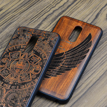 2018 New Meizu 16th Case Slim Wood Back Cover TPU Bumper Cas