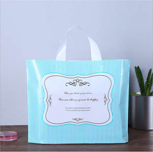 Plastic-Bag Packaging Bag Storage-Pouches Shopping-Clothes Handles Pink with Thickened