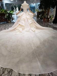 Image 2 - HTL275 Sweetheart งานแต่งงานชุดเดรสเจ้าสาว handmade appliques คริสตัลเจ้าหญิงงานแต่งงานชุด 2020 ใหม่แฟชั่นการออกแบบ Boda