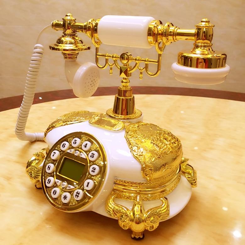 Old antique European style retro fashion household telephone landline telephone corded phone ringing tones