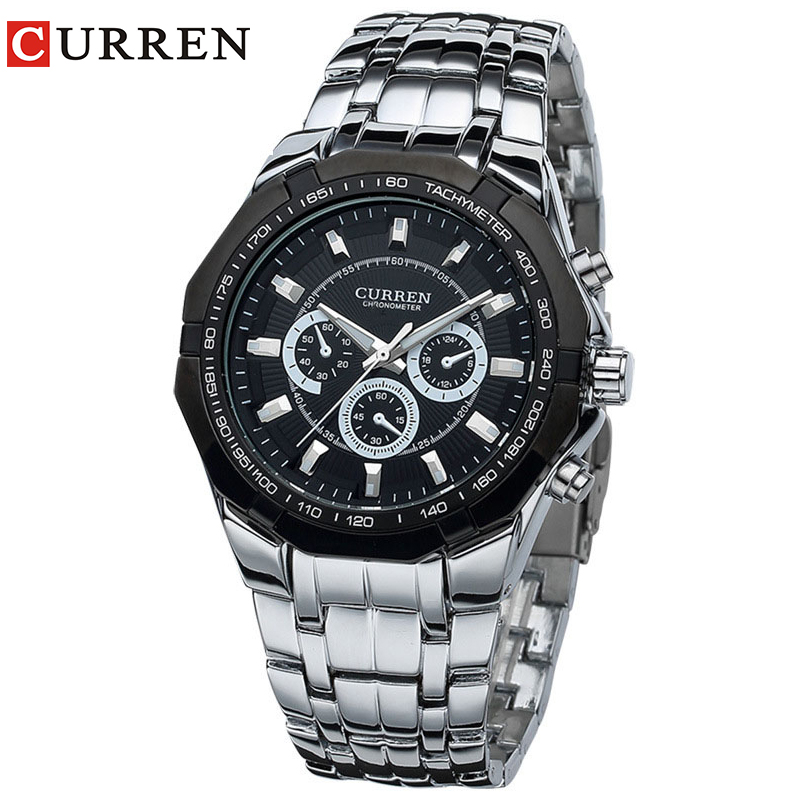 Relogio Masculino Mens Watches Top Brand Luxury Curren Original Watch Full Steel Quartz Wristwatches  Fashion 8084 0