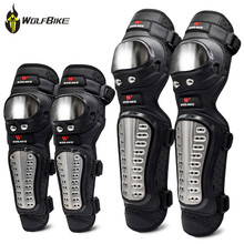 WOSAWE Motorcycle Knee Pads Stainless Steel Elbow Guard Protection Motocross Protective Gear Snowboard Ski Cycling Protector Set