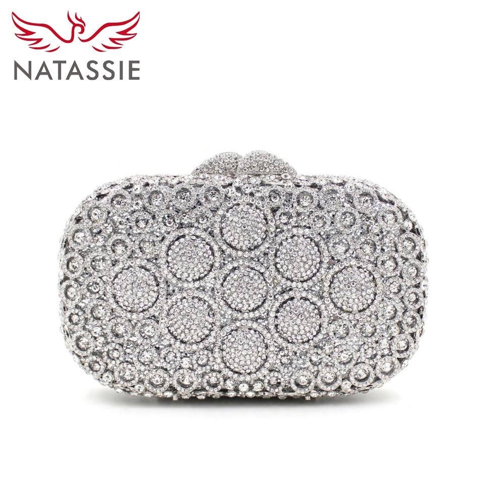 3b1f326e67 ... argento clutch STRASS cristalli; KAXIDY Sera Pochette Cristallo Pearl  Imitazione Frizione Sera Di; NATASSIE ...