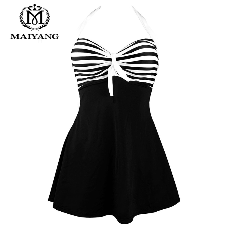 88f9810bd1 MiYang One Piece Swimsuit Plus Size Swimwear Women Bathing Suit Monokini  Bodysuit Women Vintage Sailor Pin Up Summer Dress BSLL-in One-Piece Suits  from ...