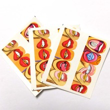 3pcs Water Nail Decal and Sticker Sexy lips Simple Summer Slider for Manicure Art Watermark Tips C05*3