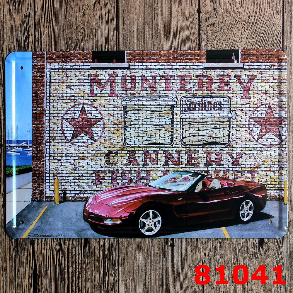 30X20CM Red Speed Car Vintage Home Decor Tin Sign for Wall Decor Metal Sign Vintage Art Poster Retro PlaquePlate