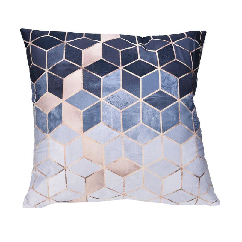 1 шт. 45*45 см полиэстер геометрический узор бросить подушки покрытие автомобиля украшения дома диван-кровать Декор, декоративные наволочка