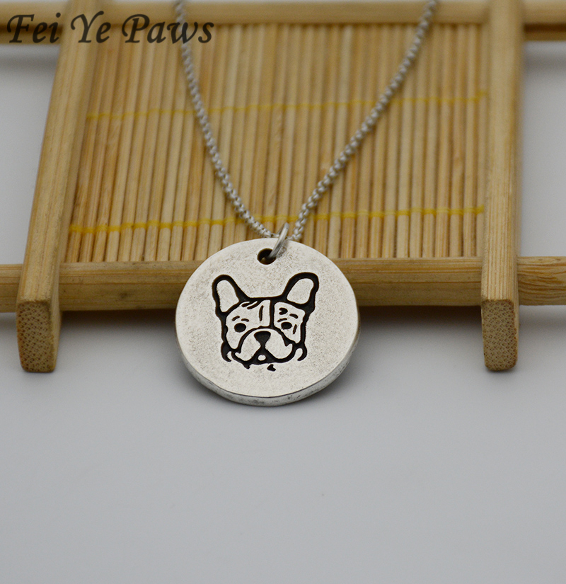 Vintage Silver Stainless Steel Long Chains French Bulldog Pendant Statement Necklace Boho Dog Necklaces For Women Men Jewelry