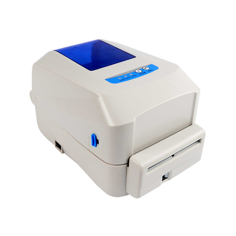 New label printer with cutter and multi interface high speed transfer barcode printer for garment mark stickers clothing Tags high quality silk 35mm 200m blank washing mark high end laundering tags for garment provide custom order