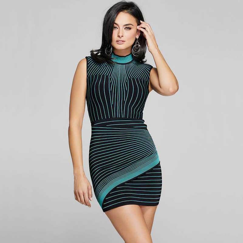 wholesale 2019 Newest Women High-end quality jacquard fashion Leisure Celebrity Cocktail party bandage dress(L3029)