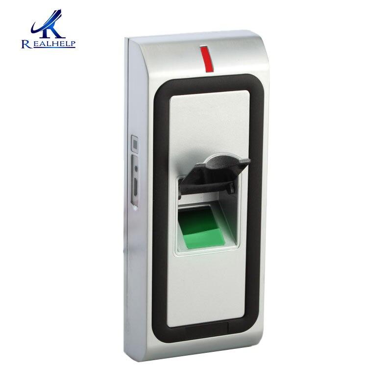 Contrôleur de porte d'empreinte digitale de coquille en métal biométrique imperméable et lecteur d'empreinte digitale extérieur à grande vitesse de contrôle d'accès de carte