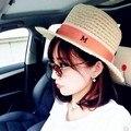 Sombrero de ala ancha sombrero para Maison Michel mujeres Jazz Cap panamá sombrero de ala ancha sombreros de ala sombrero de paja del verano breve sombrero de playa en la acción 15