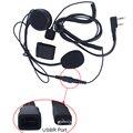 L4 excelente calidad 2 Pin de seguridad Walkie Talkie auriculares dos vías auricular de Radio con PTT Control