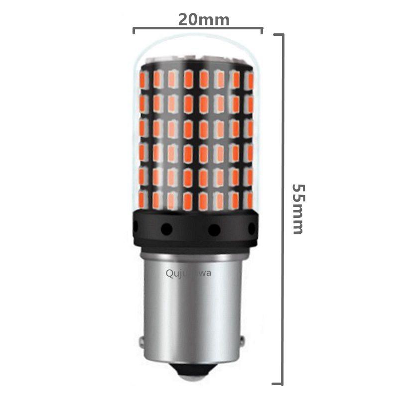 HTB1OWbgXyLrK1Rjy1zdq6ynnpXaP 1PC T20 7440 W21W LED Bulbs 3014 144smd led CanBus No Error 1156 BA15S P21W BAU15S PY21W led lamp For Turn Signal Light No Flash