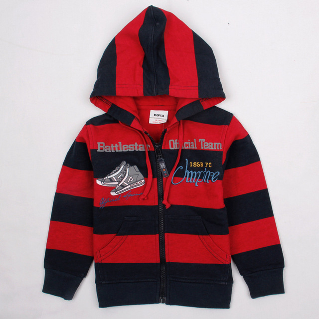 815d2eb8b Blue red stripped boys hoodies children s wear sweatshirts jacket ...