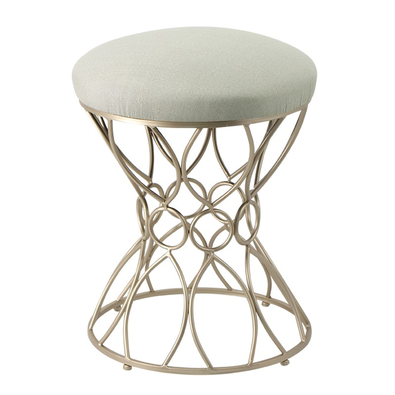 N3Simple modern makeup chair Nordic dressing table stool Princess wrought iron dressing stool beauty massager stool nail chair