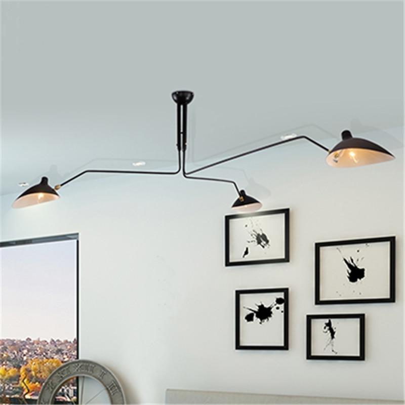Modern Home Decoration Big 3 Lights Living Room Serge Mouille Ceiling Light Bedroom Duckbilled Dining