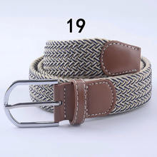 (1 pieces/lot)Men's and women new design knitted elastic band braided belt. Woven elastic waistband free shipping