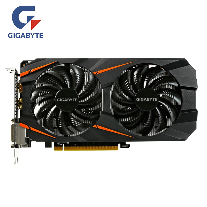 GIGABYTE Video Card Original GTX 1060 3GB Graphics Cards Map For NVIDIA Geforce GTX 1063 OC GDDR5 192Bit Hdmi Videocard Cards