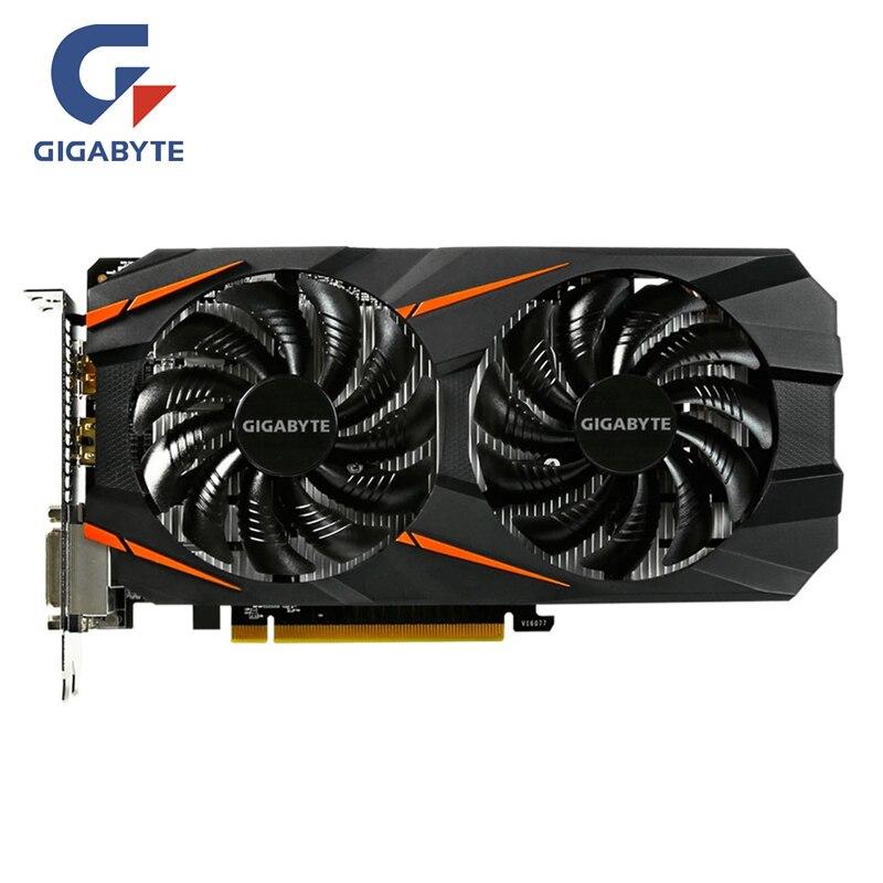 Placa de vídeo gigabyte original gtx 1060 3 gb placas gráficas mapa para nvidia geforce gtx 1063 oc gddr5 192bit hdmi videocard cartões