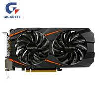 Tarjeta de vídeo GIGABYTE Original GTX 1060 3GB tarjetas gráficas mapa para nVIDIA Geforce GTX 1063 OC GDDR5 192Bit Hdmi tarjeta de vídeo tarjetas