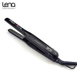 Image 3 - Lena LN 328 220 V Professionele Crimper Keramische Gegolfd Krultang Krultang Haar Styler Elektrische Corrugation Wave Haar
