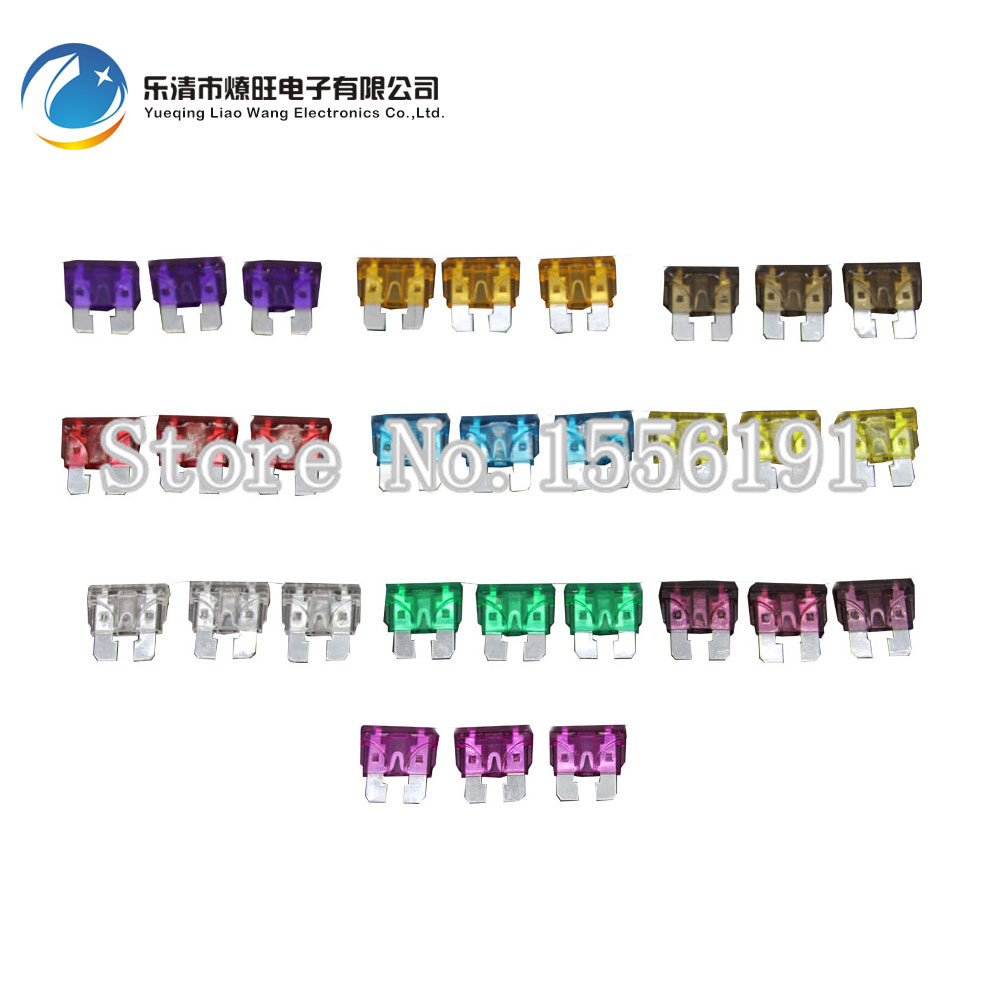 30PCS 3~40A Medium Size Auto fuse, 3pcs for each specification, Automotive Fuses Blade,The fuse Insurance insert Lights Fuse