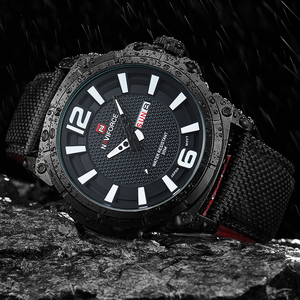 Image 4 - NAVIFORCE Top Brand Military Watches Men Fashion Casual Canvas Leather Sport Quartz Wristwatches Male Clock Relogio Masculino