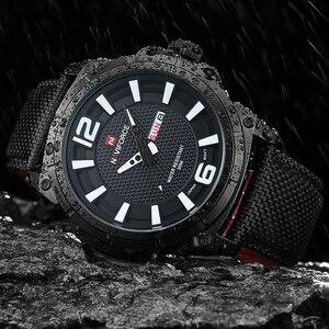 Image 4 - NAVIFORCE Top Marke Militär Uhren Männer Mode Casual Leinwand Leder Sport Quarz Armbanduhren Männlich Uhr Relogio Masculino